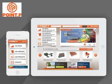 Présentation de l'interface tactile Point.P dans un iPhone et un iPad