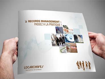 Création graphique #brochure #print client Locarchives