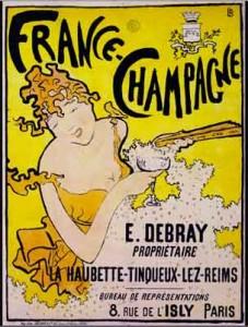 Affiche France-Champagne, de Pierre Bonnard (1891)