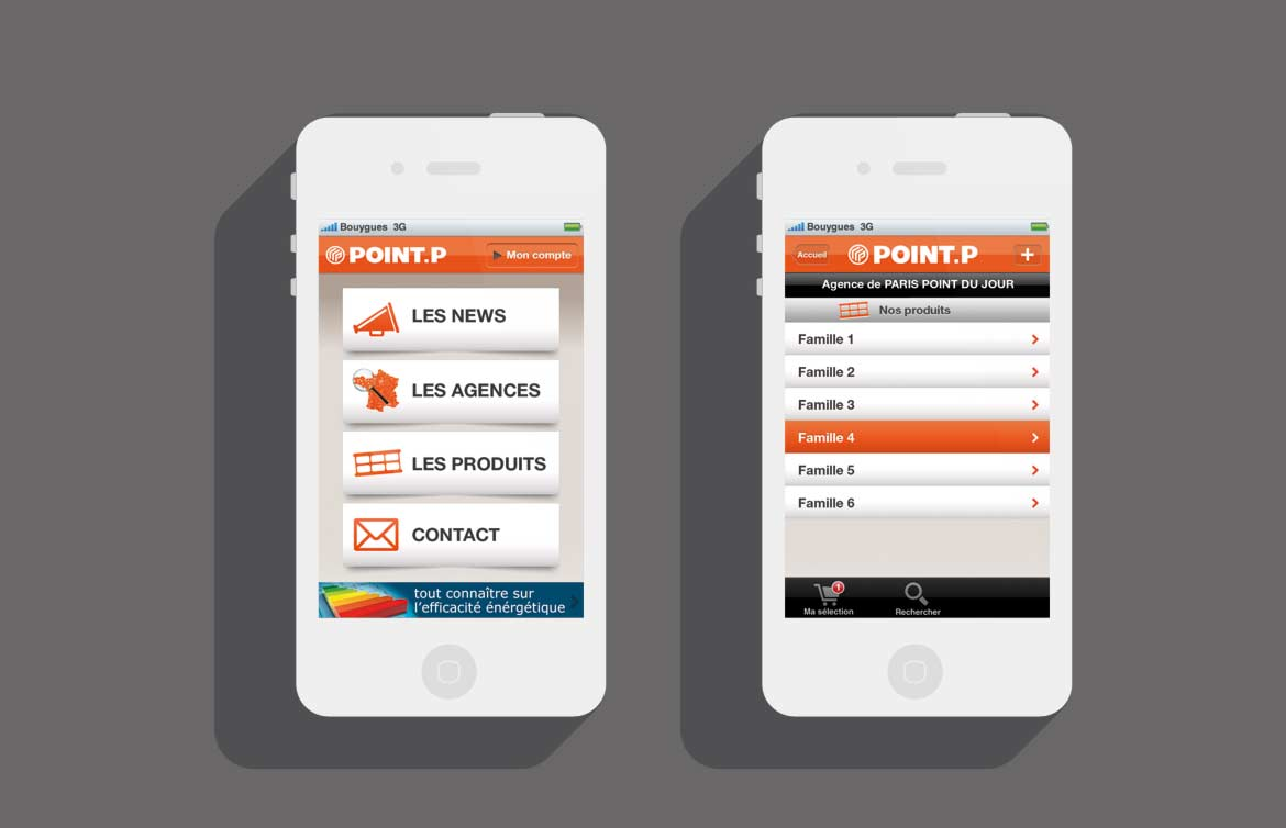 Design apps mobile iOS / client point.P