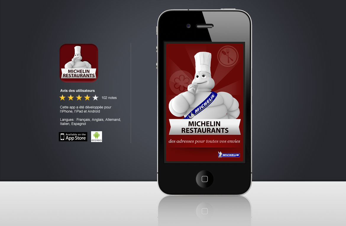 Design apps Michelin Restaurants