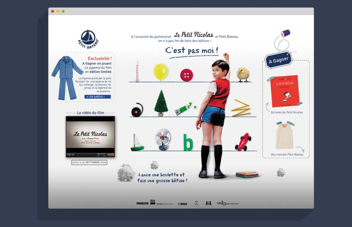 Animation flash jeu concour