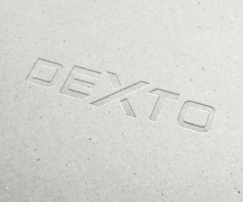 Impression du logo Dexto embossage / marquage à froid
