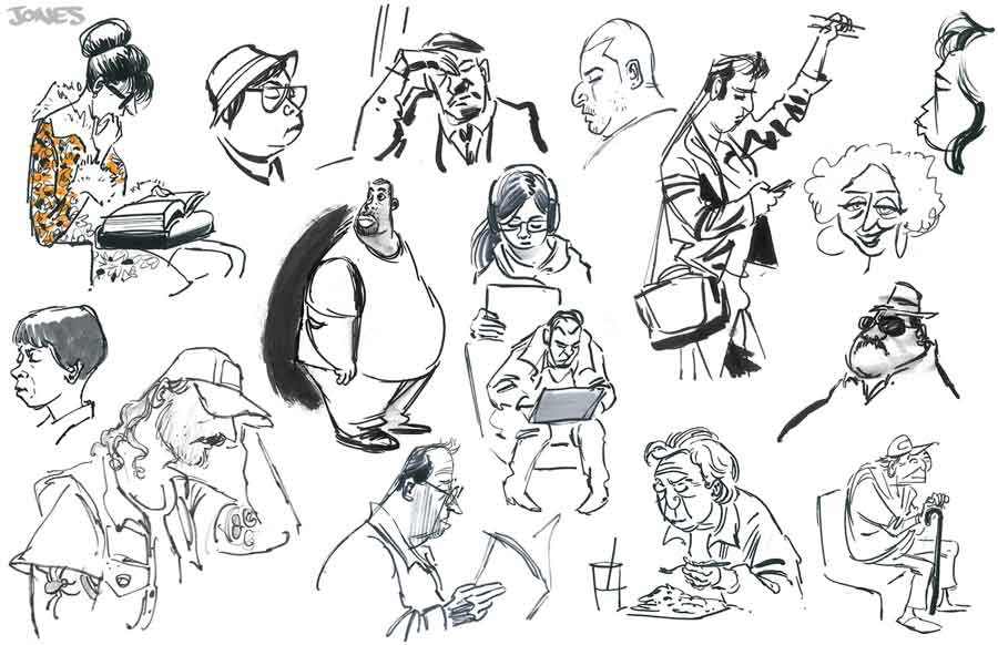 sketchbook du graphiste freelance MATT Jones