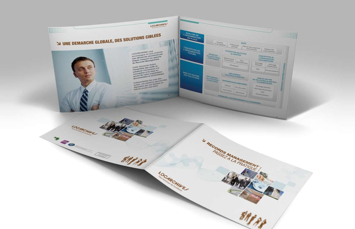 #print  #Brochure Locarchives Records Management, pages intérieures