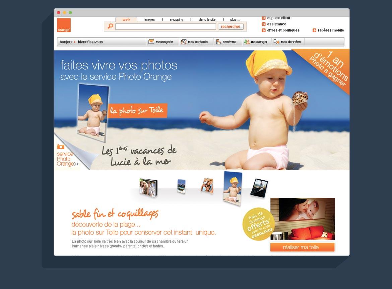 Étape Photo sur Toile Jeu Concours Orange