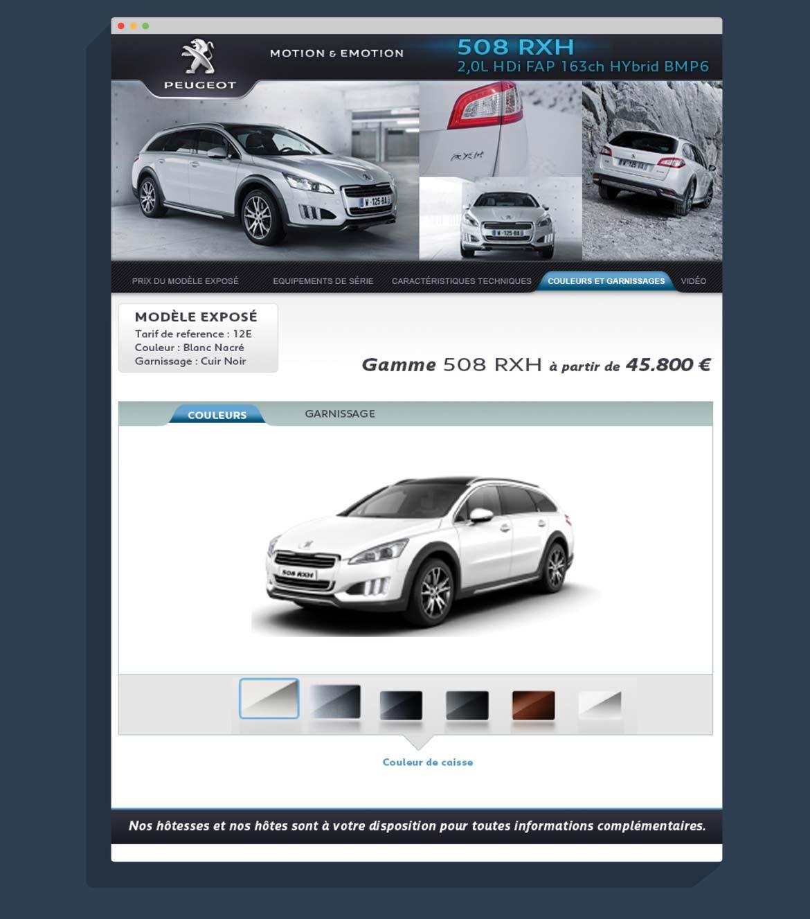 Design écran couleurs & garnissage