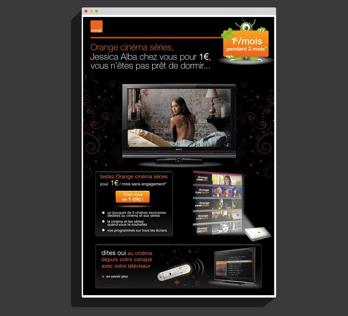 Emailing Orange Cinéma Série
