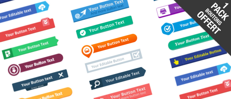 boutons flat design gratuit à télécharger
