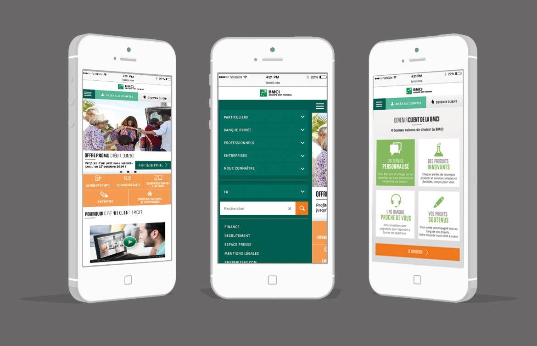 Triptyque écrans BMCI version mobile