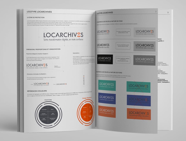 guideline de la charte graphique Locarchives