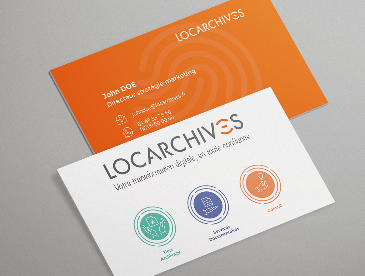 Design cartes de visite Locarchives