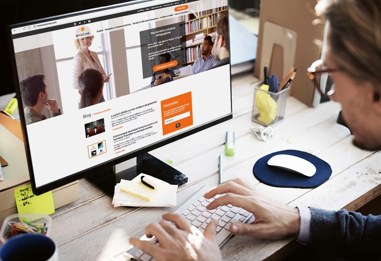 Image montrant la page d'accueil du site vue d'un écran desktop